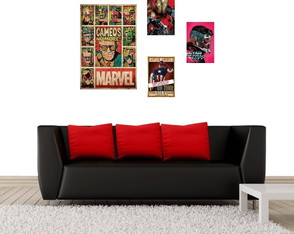 Kit 4 Placas Decorativas Quadros Stan Lee - Filmes