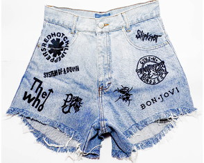 Short Customizado Jeans Rock