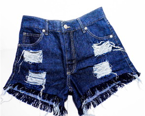 Short Jeans Destroyed Basic