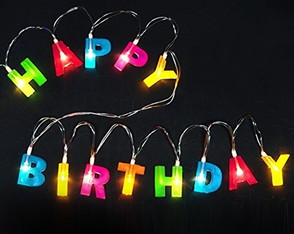 Corrente Luminaria De Led Happy Birthday Decoracao Festa