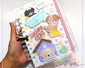 Agenda personalizada - Cachorrinhos Candy Colors