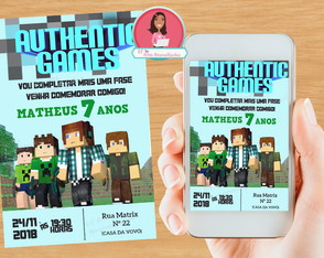 Convite Authentic Games - DIGITAL