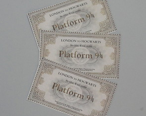 Ingresso Plataforma 9 3/4 - Harry Potter *** Personalizado