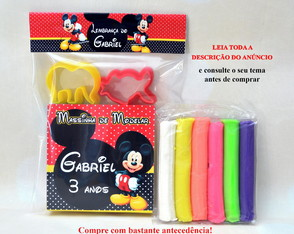 Massinha Personalizada Mickey Mouse - Kit com Moldes