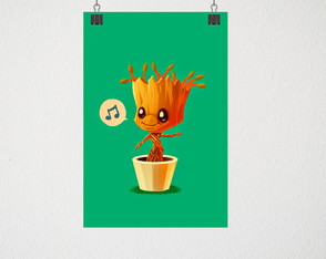 Poster A4 Baby Groot