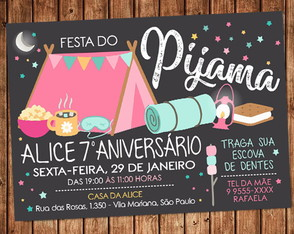 Convite Festa do Pijama Digital