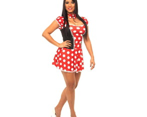Fantasia Minnie Sexy Feminina Carnaval Mickey Mouse Disney