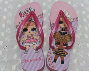 Chinelo Personalizado - Boneca Lol Surprise