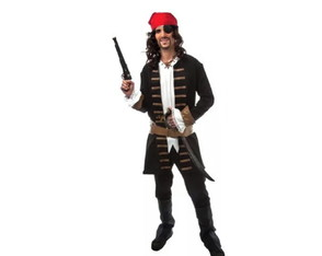 Fantasia Cosplay Piratas Do Caribe Jack Sparrow Carnaval