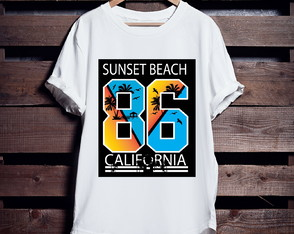 Camiseta Longline Sunset