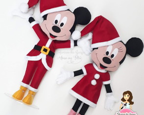 Mickey e Minnie Noel 40 cm
