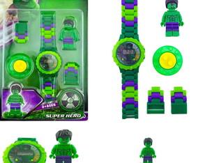 c0f79bf4d36 Relógio do Hulk + Boneco Lego Hulk Bloco De Montar Legal