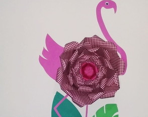 FLAMINGO GIGANTE DE PAPEL - FESTA - TROPICAL - COSTA RICA
