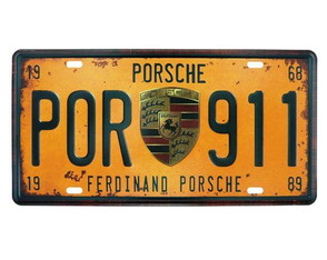 Placa de Metal Porsche Retrô