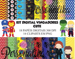 KIT DIGITAL VINGADORES CUTE