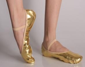 c14c1f6bd Sapatilha Ballet Balé Dança Meia Ponta Dourada