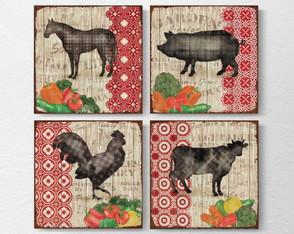 4 Quadros Decorativos Na Fazenda