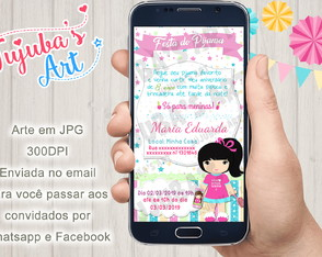 Convite Digital Festa do Pijama para Whatsapp