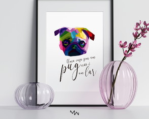 PÔSTER DIGITAL - pug