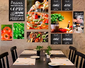 Kit 11 Placas Decorativas Quadros Pizzaria Pizza Restaurante