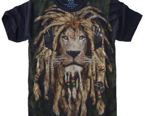 Camiseta Leão Dread Lion