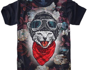Camiseta Gato Aviador Cat
