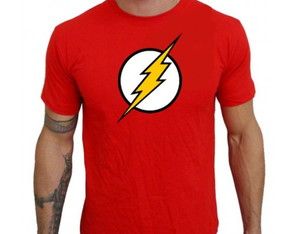 Camiseta Flash Super Heroi