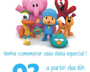 Convite ou Save the Date Digital - Pocoyo