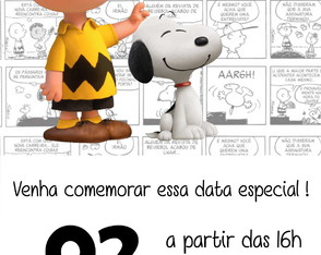 Convite ou Save the Date Digital - Snoopy