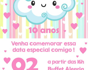 Convite ou Save the Date Digital - Chuva de Amor