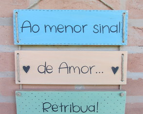 Placa Decorativa Amor
