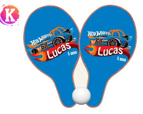 Raquete de ping pong hot wheels