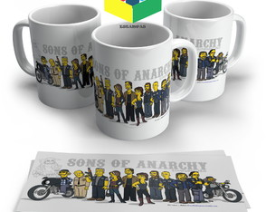 Caneca Sons of Anarchi Simpsons - Porcelana