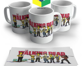 Caneca The Walking Dead Simpsons- Porcelana