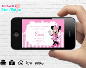 Convite Digital Minnie