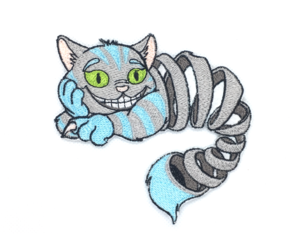Patch Bordado Gato Alice - Cheshire Cat - modelo2