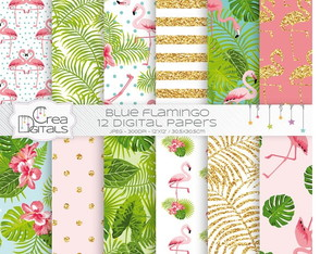 Kit Digital - Papéis Flamingo CREA 38