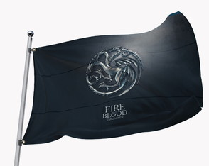Bandeira Game of Thrones - Targaryen