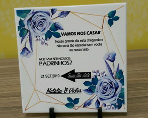 Azulejo personalizado save the date