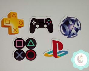 100 adesivos video game playstation