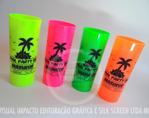 Copo Long Drink Pool Party Personalizado