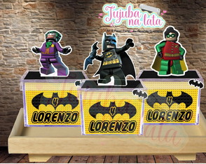 CAIXA ACRILICA Com apliques 3D Lego Batman movie