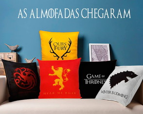 Kit de Almofadas Game of Thrones Casas Bordada