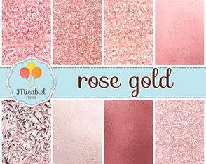 Papel Digital - Rose Gold I