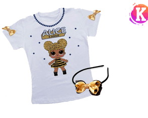 Camiseta e Tiara - Queen Bee