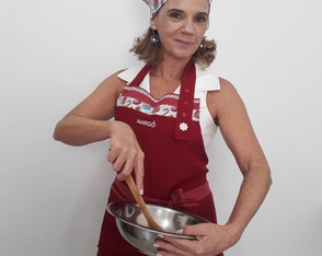 Avental e touca Doces Culinaria