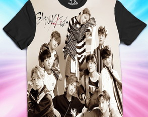 Camiseta STRAY KIDS Fullface