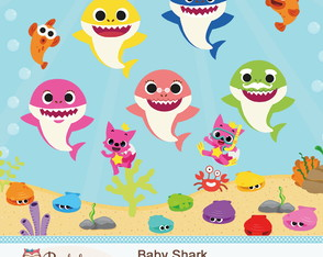 Kit Digital Scrapbook Baby Shark - C.398