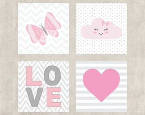 Kit Placas Decorativas Love
