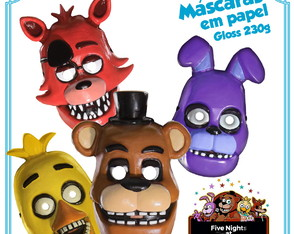 máscaras fnaf - Five Nights at Freddy's lembrancinhas
